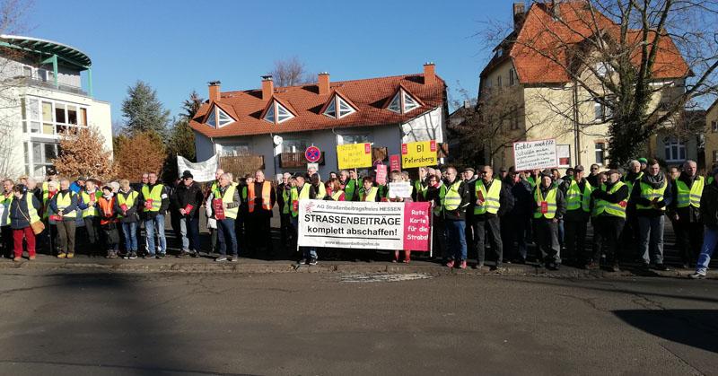 Kundgebung Der Bürgerinitiativen Bei Cdu Parteitag In Alsfeld